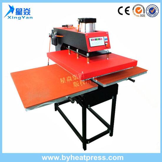 Semi-Automatic 15'x15' Double Station Pneumatic T-Shirt Heat Transfer Printing Machine