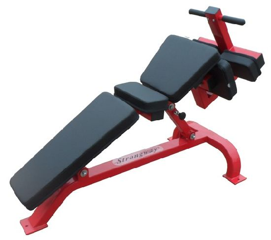 Fitness Equipment / Hammer Strength / Gym Commercial Adjustable Decline  Bench (SF22)