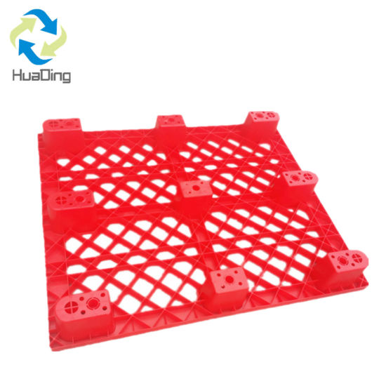 Nestable Distribution Low Price One Way Shipping Export Light Duty Single Use Black Recycled Disposable Plastic Pallet