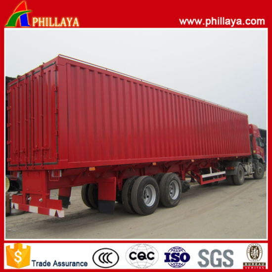 ef3cb5a696 China 3 Axles Rear Door Open Van Type Truck Trailer - China Truck ...