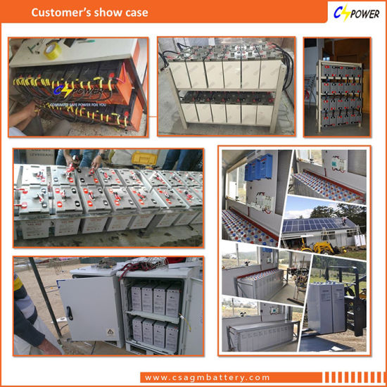 Cspower 2V800ah Deep Cycle AGM Battery for Solar Power System, China Manufacturer pictures & photos