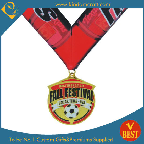 Custom Souvenir Soccer/ Football Sport Award Medal with Ribbon