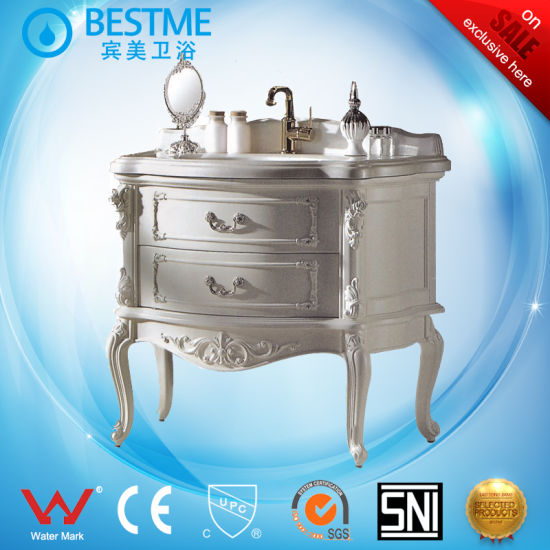Solid Wood Floor Standing Bathroom Vanity furniture From China by-F8012 pictures & photos