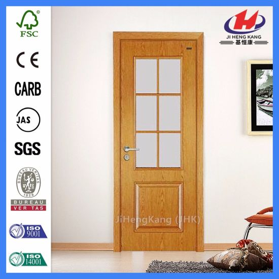 Wooden Frames HDF MDF Veneer Glass Door pictures & photos