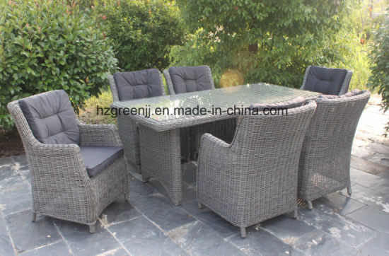 China Rattan Garden Furniture Outdoor Dinging Set 0633 in Round ...