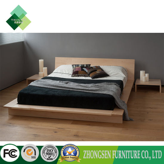 Custom Made Modern Style Full Size Wood Platform Bed Frame With Drawers  Storage Plans (ZBS 875)