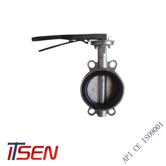 JIS 10K/16K Wafer Type Butterfly Valve of Stainless Steel Material