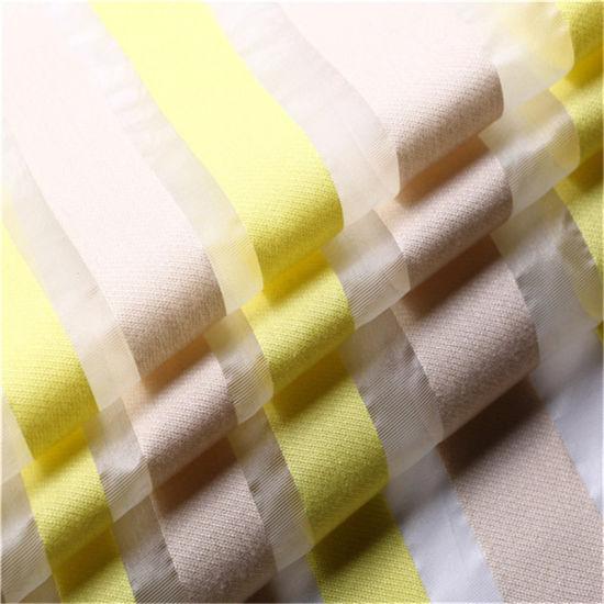 Stripe Organza Silk Chiffon Fabric for Woman Dress
