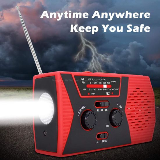 Portable Mini USB Am FM Noaa Radio with LED Flashlight pictures & photos
