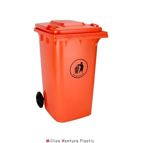 china heavy weight plastic dustbin garbage bin 240l hdpe dustbin