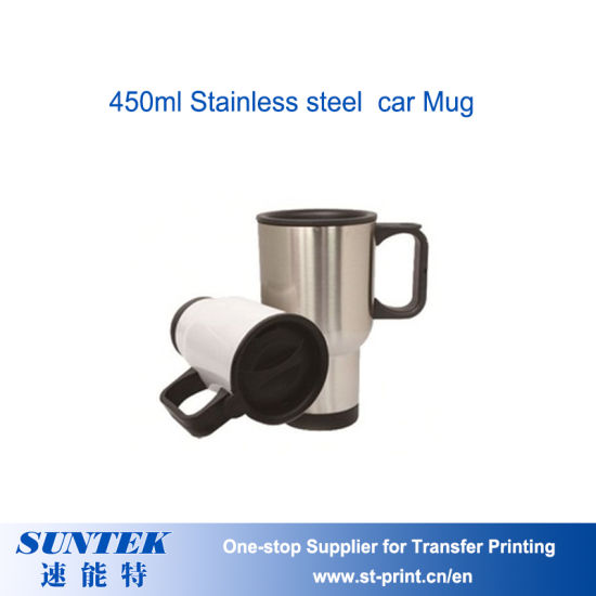 450ml Heat Transfer Stainless Steel Travel Heating Cup Coffee Tea Car Cup Mug pictures & photos