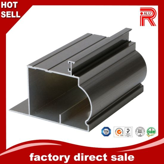 Aluminium/Aluminum Extrusion Profile with Black Anodized for Window and Door pictures & photos
