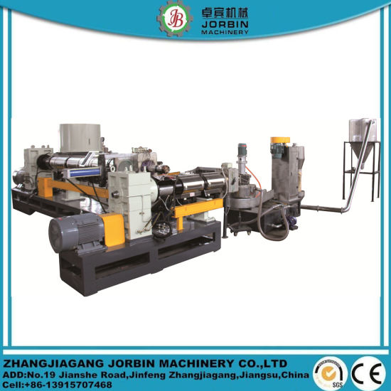 Auto PP PE HDPE LDPE Film PP Bags Flakes Side Force Feeder Single Screw Extruder Plastic Pelletizer Machinery/Plastic Recycling Granulating Machine
