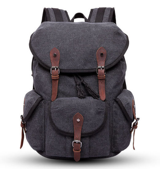 5fb5082a3 Simple European American Large-Capacity Canvas Backpacking Men′s Double  Shoulder Outdoor Travel Bag Neutral Canvas Bag