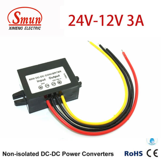 non-isolated 24vdc-12vdc 3a 36w dc dc converter power supply