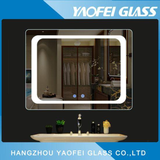 China Vanity Decorative Illuminated Bathroom LED Mirror - China ...