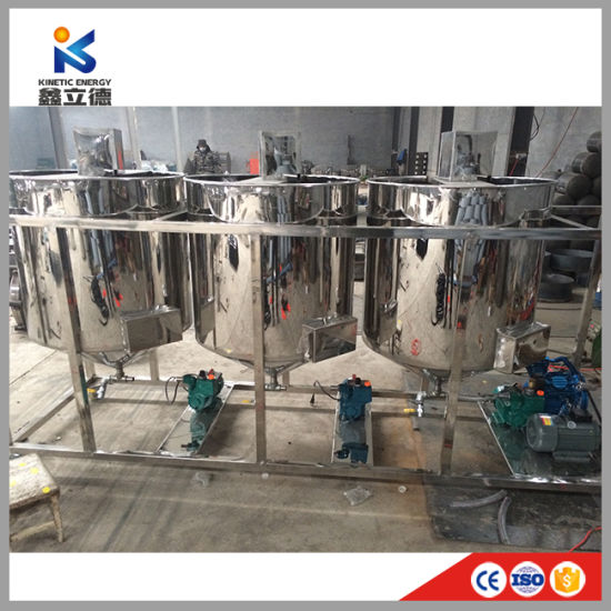 High Quality Crude Peanut Oil Refining Machine/Mini Vegetable Oil Refinery  and Shea Butter Sunflower Refining Equipment
