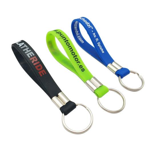 Oem Customized Silicone Bracelet Key Holder Keyring Chain Kc S 02 B