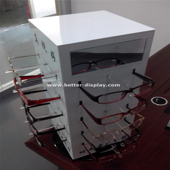 Custom Plastic Acrylic White Contact Lenses Organizer