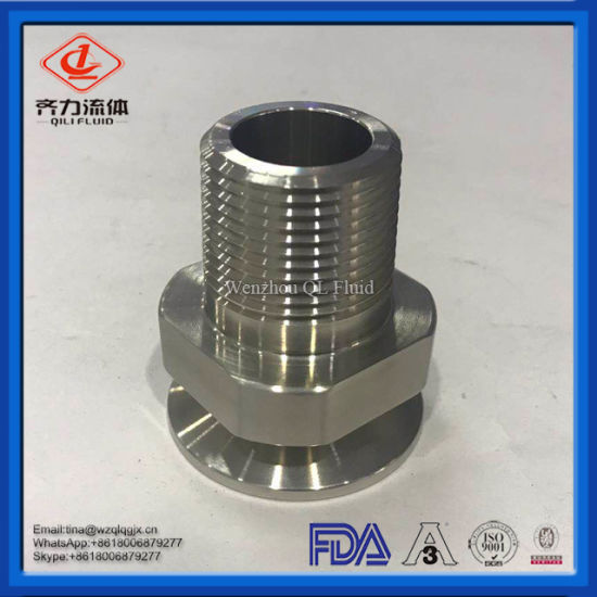 3A 22MP Sanitary Stainless Steel Female NPT Clamp Adapter pictures & photos