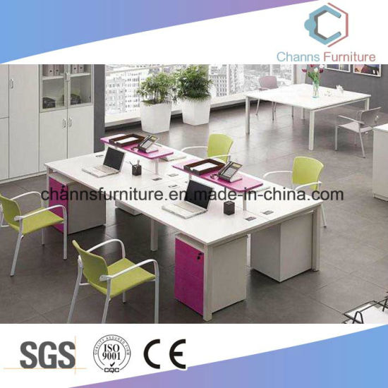Modern Pink Office Workstation With Partition (CAS W1867)