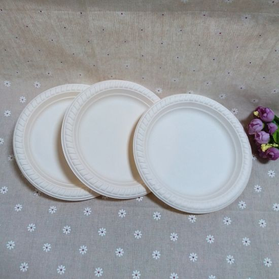 Biodegradable Wedding Party Ware Cornstarch Organic Disposable Plate & China Biodegradable Wedding Party Ware Cornstarch Organic Disposable ...