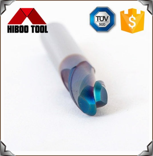High Precision Blue Nano Coated Ball Nose End Mill with 2 Flutes