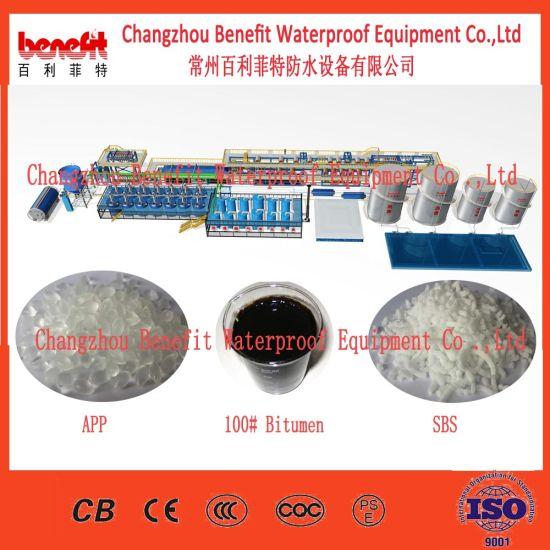Rolling Sbs Rubber Roofing Material Bitumen Waterproof Membrane Production Line