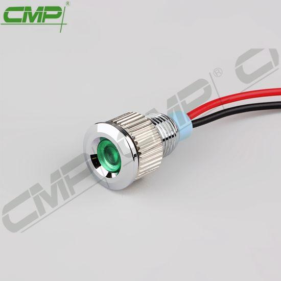 Metal Signal Lamp Panel Mount 8mm
