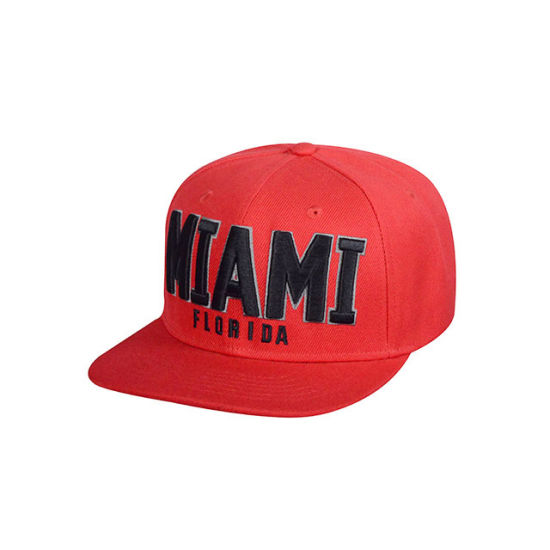 High Quality Twill with 3D Embroidered Logo Flat Brim Cap pictures & photos