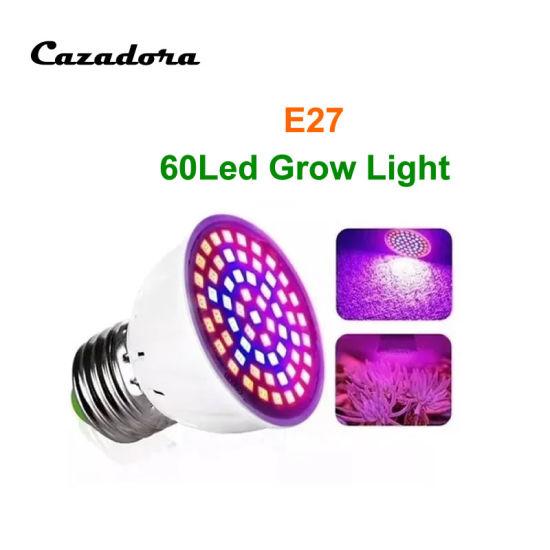 E27 60LED Full Spectrum LED Plant Grow Light Bulb Indoor LED Grow Bulbs