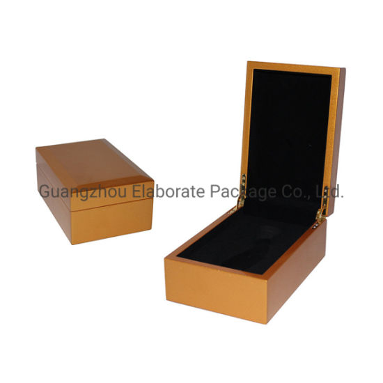 Indian Style Gold Shiny Lacquered MDF Wood Perfume Bottle Packaging Holder Box