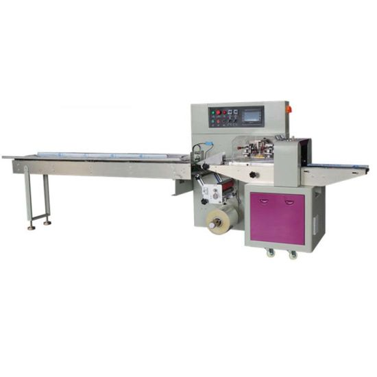 Candy/Chocolate/Wafer/Biscuit Food Pillow/Horizontal Wrapping Full Automatic Packing Packaging Machine