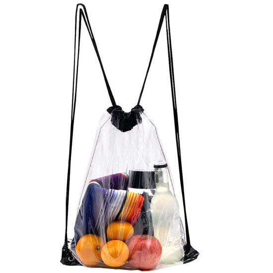 Clear Drawstring Backpack - Clear Stadium Drawstring Bag Waterproof Clear Bags Backpacks
