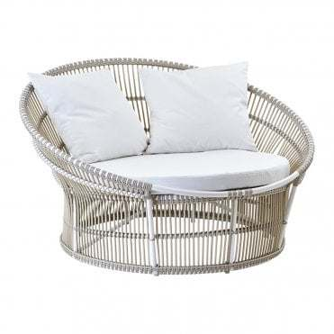 European Style Modern Outdoor Doulbe Sofa for Poolside and Beach