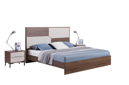 China Bedroom Furniture Modern Style Mdf King Size Bed With Led Light China King Bed Bedroom Bed