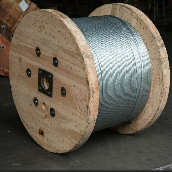 7/1.6mm Galvanized Steel Wire Strand High Carbon Stay Wire