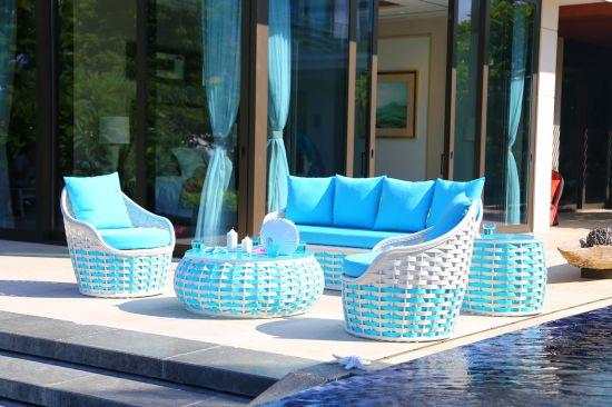 Bright Color Garden Swimming Pool Outdoor Sofa Furniture with Fashion Design