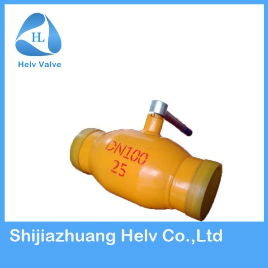 Full Welding Wcb Trunnion Mounted Ball Valve for Nature Oil