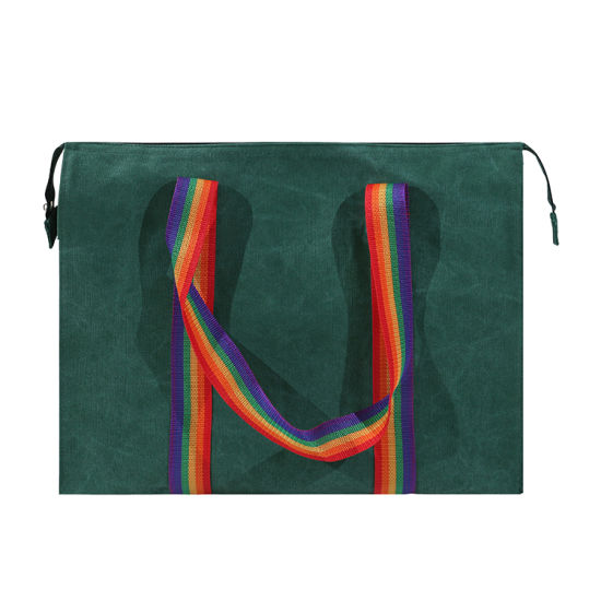 Large Capacity Printed Summer Beach Washable Shopping Tote Bag