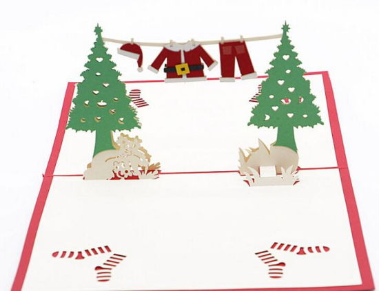 Snowman Christmas Gift Card Laser Cut 3D