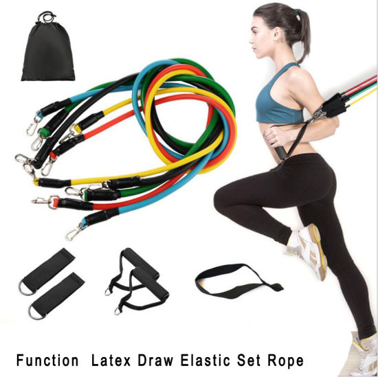 Home Sport Healthy Silicone Suit Elastic Bands Resistance Exercise Pull Rope Resistance Fitness Band