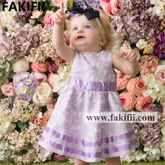 2021 Wholesale Children's Clothing Cotton Kid Floral Dresses Girls Baby Casual Summer Dress for Kid