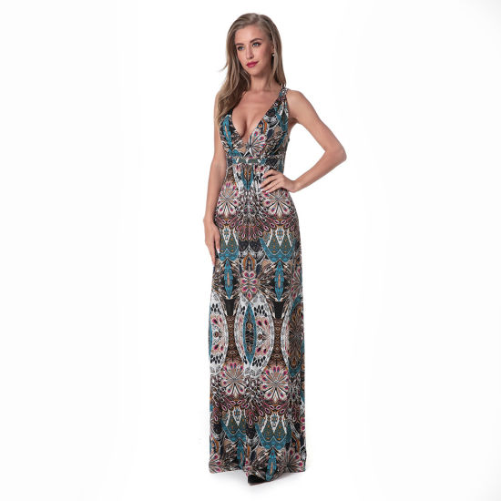Elegant Women Clothes Sexy Halter Long Dress Backless Dress