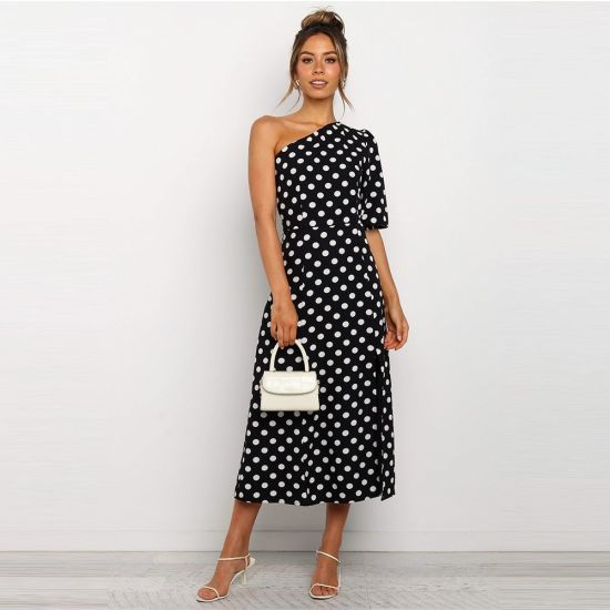 Summer Flower DOT Printed Women Casual Dress Fashion Clothes