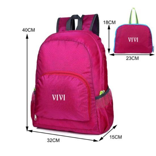 Cheap Custom Lightweight Nylon Waterproof Foldable Backpack