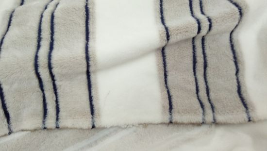 Polyester Offset Strip Flannel Fleece Garment Blanket Home Textile Knitting Fabric