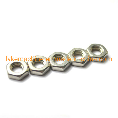 Stainless Steel Thin Hexagon Nuts Jam Thin Nut Half Nut M3 to M8 Metric Qty 50 pictures & photos
