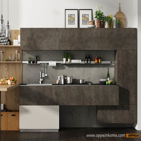 2017 Oppein Modern Standard Kitchen Cabinets with Spain Sintered Rock Finish Op17-Sin01 pictures & photos