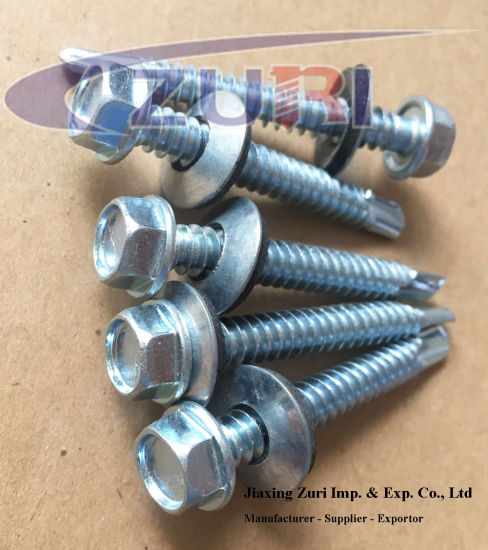 "Self Drilling Roofing Screw with EPDM Washer#14*3_3/4"" pictures & photos"
